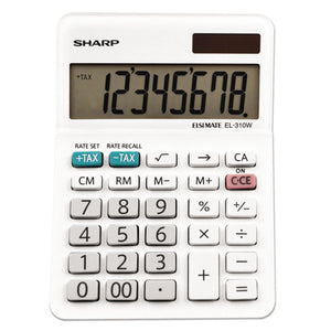 ESSHREL310WB - El-310wb Mini Desktop Calculator, 8-Digit Lcd