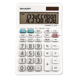 ESSHREL330WB - El-330wb Desktop Calculator, 10-Digit Lcd