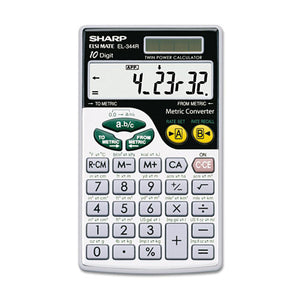 ESSHREL344RB - El344rb Metric Conversion Wallet Calculator, 10-Digit Lcd