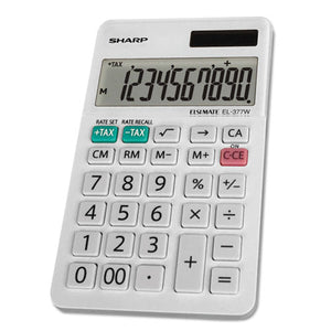 ESSHREL377WB - El-377wb Large Pocket Calculator, 10-Digit Lcd