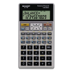 ESSHREL738FB - El-738c Financial Calculator, 10-Digit Lcd