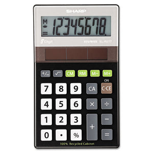 ESSHRELR277BBK - El-R277bbk Recycled Series Handheld Calculator, 8-Digit Lcd
