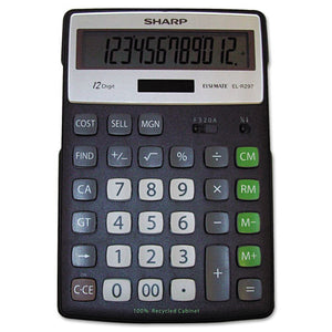 ESSHRELR297BBK - El-R297bbk Recycled Series Calculator W-kickstand, 12-Digit Lcd
