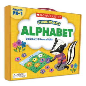 ESSHS823958 - LEARNING MATS KIT, ALPHABET GAME, 70 CARDS, AGES 3 AND UP