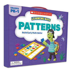 ESSHS823964 - LEARNING MATS KIT, PATTERNS LEARNING GAME, 70 CARDS, AGES 3 AND UP