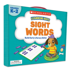 ESSHS823966 - LEARNING MATS KIT, SIGHT WORD GAMES, 120 CARDS, AGES 5 AND UP