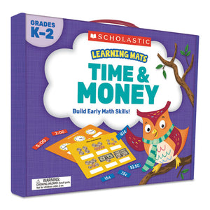 ESSHS823967 - LEARNING MATS KIT, TIME-MONEY, 120 CARDS, AGES 5 AND UP
