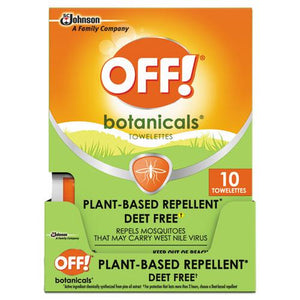 ESSJN694974 - BOTANICALS INSECT REPELLANT, BOX, 10 WIPES-PACK, 8 PACKS-CARTON