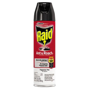 ESSJN697318EA - Fragrance Free Ant And Roach Killer, 17.5oz Aerosol Can