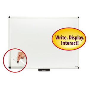 "ESSMD02572 - Justick Premium Aluminum-Frame Electro-Surface Dry-Erase Board, 48"" X 36"", White"