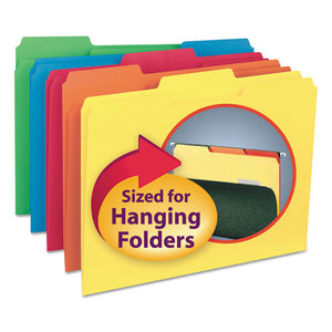 ESSMD10229 - Interior File Folders, 1-3 Cut Top Tab, Letter, Assorted, 100-box