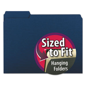 ESSMD10279 - Interior File Folders, 1-3 Cut Top Tab, Letter, Navy, 100-box