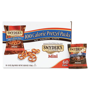 ESSNY827582 - Mini Pretzels, Original, 0.9 Oz Bags, 60-carton