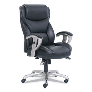 ESSRJ49416BLK - EMERSON BIG AND TALL TASK CHAIR, 22W X 21 1-2D X 22 1-2H SEAT, BLACK LEATHER