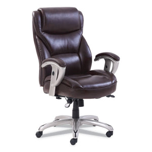 ESSRJ49416BRW - EMERSON BIG AND TALL TASK CHAIR, 22W X 21 1-2D X 22 1-2H SEAT, BROWN LEATHER
