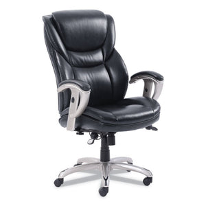 ESSRJ49710BLK - EMERSON EXECUTIVE TASK CHAIR, 22 1-4W X 22D X 22H SEAT, BLACK LEATHER