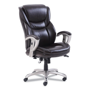 ESSRJ49710BRW - EMERSON EXECUTIVE TASK CHAIR, 22 1-4W X 22D X 22H SEAT, BROWN LEATHER
