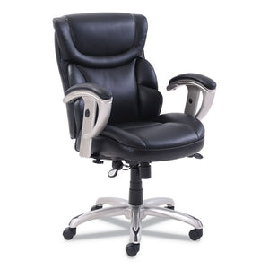 ESSRJ49711BLK - EMERSON TASK CHAIR, 21 1-4W X 19 3-4D X 21 3-4H SEAT, BLACK LEATHER