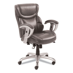 ESSRJ49711GRY - EMERSON TASK CHAIR, 21 1-4W X 19 3-4D X 21 3-4H SEAT, GRAY LEATHER