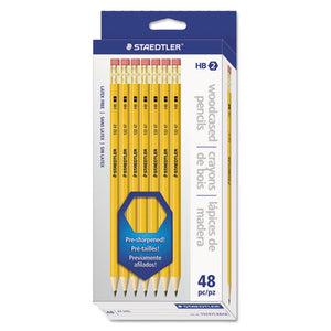 ESSTD13247C48A6 - Woodcase Pencil, Graphite Lead, Yellow Barrel, 48-pack