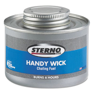 Handy Wick Chafing Fuel, Can, Methanol, Six-hour Burn, 24-carton