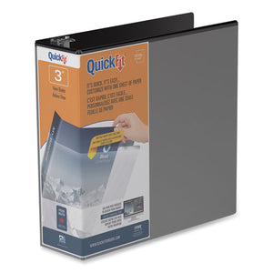 "Quickfit D-ring View Binder, 3 Rings, 2"" Capacity, 11 X 8.5, Black"