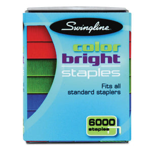 ESSWI35123 - Color Bright Staples, Assorted Colors, Blue, Red, Green, 6000-pack