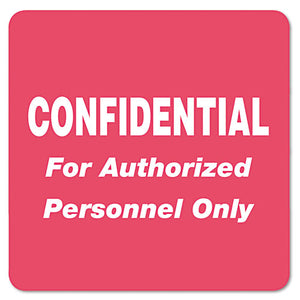 ESTAB40570 - Medical Labels For Confidential, 2 X 2, Red, 500-roll