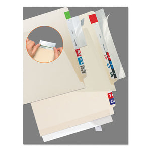 ESTAB68387 - Self-Adhesive Label-file Folder Protector, Strip, 2 X 11, Clear, 100-pack