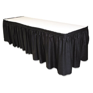 "ESTBLLS2914BK - Table Set Linen-Like Table Skirting, 29"" X 14ft, Black"