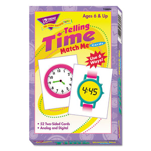 ESTEPT58004 - Match Me Cards, Telling Time, 52 Cards, Ages 6 And Up