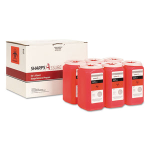ESTMDSC1Q4241Q6 - SHARPS RETRIEVAL PROGRAM CONTAINERS, 1.5 QT, PLASTIC, RED, 6-BOX