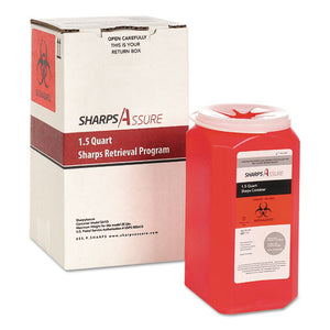 ESTMDSC1Q424A1Q - SHARPS RETRIEVAL PROGRAM CONTAINERS, 1.5 QT, PLASTIC, RED