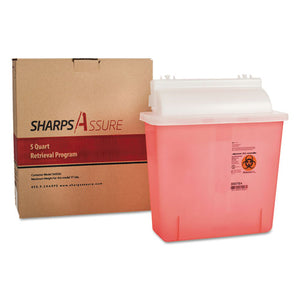 ESTMDSC5Q4245QU - SHARPS RETRIEVAL PROGRAM CONTAINERS, 5 QT, PLASTIC, RED