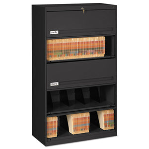 ESTNNFS351LBL - CLOSED FIXED 5-SHELF LATERAL FILE, 36 X 16 1-2 X 63 1-2, BLACK