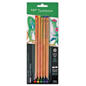 ESTOM61550 - Recycled Colored Pencils, Natural Wood, Recycled Cedar, Artist Quality, 5-st