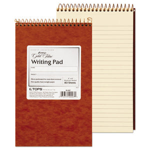 ESTOP20007 - Gold Fibre Retro Wirebound Writing Pad, College-medium, 5 X 8, Ivory, 80 Sheets