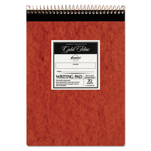 ESTOP20008R - Gold Fibre Retro Wirebound Writing Pad, Legal, 8 1-2 X 11 3-4, Ivory, 70 Sheets