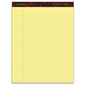 ESTOP20020 - Gold Fibre Ruled Pad, 8 1-2 X 11 3-4, Canary, 50 Sheets, Dozen