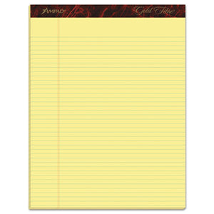 ESTOP20022 - Gold Fibre Pads, 8 1-2 X 11 3-4, Canary, 50 Sheets, Dozen