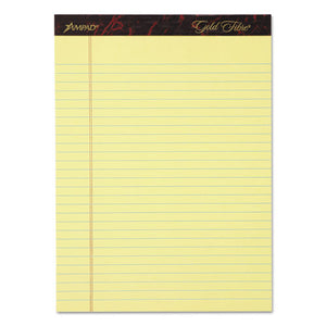 ESTOP20032 - Gold Fibre Writing Pads, Legal-wide, 8 1-2 X 11 3-4, Canary, 50 Sheets, 4-pack