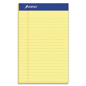 ESTOP20204 - Perforated Writing Pad, Narrow, 5 X 8, Canary, 50 Sheets, Dozen