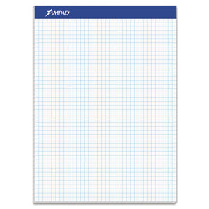 ESTOP20210 - Quadrille Double Sheets Pad, 8 1-2 X 11 3-4, White, 100 Sheets