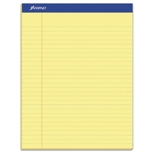 ESTOP20220 - Perforated Writing Pad, 8 1-2 X 11 3-4, Canary, 50 Sheets, Dozen