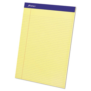ESTOP20222 - Perforated Writing Pad, 8 1-2 X 11 3-4, Canary, 50 Sheets, Dozen