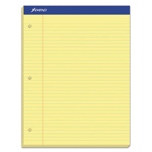 ESTOP20243 - Double Sheets Pad, Legal-wide, 8 1-2 X 11 3-4, Canary, 100 Sheets