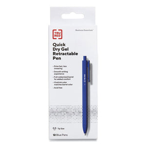 Quick Dry Gel Pen, Stick, Fine 0.5 Mm, Blue Ink, Blue Barrel, 24-pack
