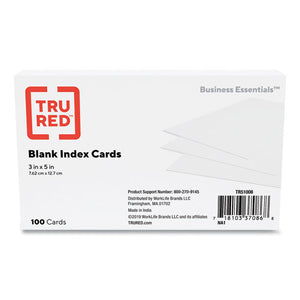 Index Cards, Unruled, 3 X 5, White, 100-pack