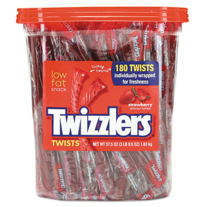 ESTWZ884064 - Strawberry Twizzlers Licorice, Individually Wrapped, 180-tub