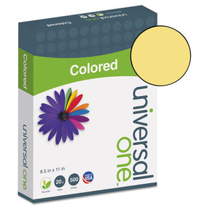 ESUNV11205 - Colored Paper, 20lb, 8-1-2 X 11, Goldenrod, 500 Sheets-ream